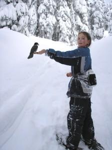 Snow shoe fun - take photos, greet nature. Image courtesy Turtlepace at Wikipedia.