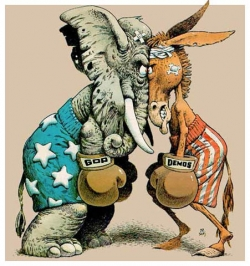 Democrats and Republicans need to be accountable for their fighting and inability to do their jobs. Image courtesy of Sheltonmedia.blogspot.com