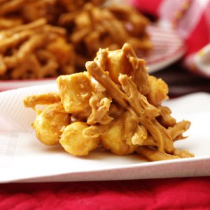 If you have a love for sweet and salty together, you'll love Butterscotch Haystacks. Image courtesy of verybestbaking.com